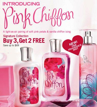 pink chiffon, signature collection