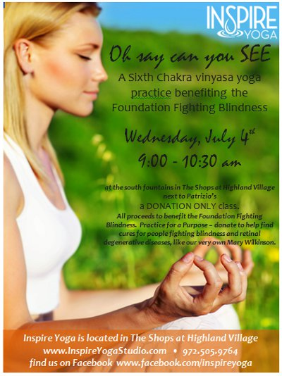 Foundation Fighting Blindness Donation Yoga Class