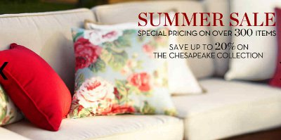 summer sale, special price, chesapeake collection, save
