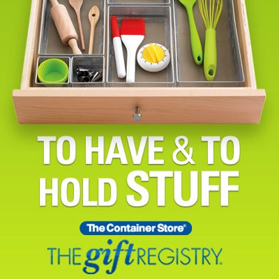 Wedding Gift List Insurance : Popular Wedding Registry Stores on The Gift Registry At The Container ...