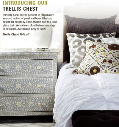 trellis chest, sale