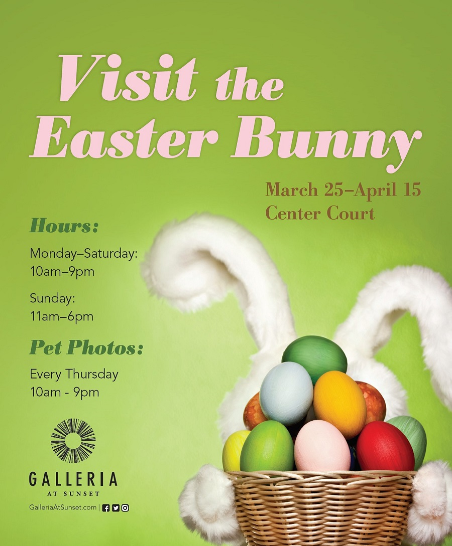 Photos & Visit with the Easter Bunny