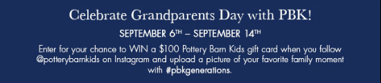 Celebrate Grandparent's Day with pbk at pottery barn kids