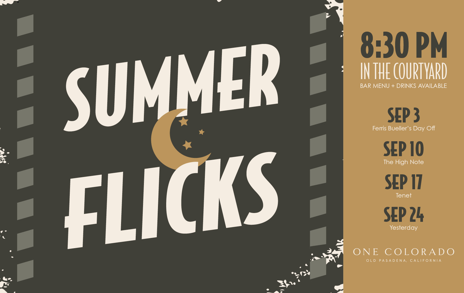 Summer Flicks at one colorado
