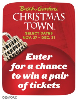 Win Busch Gardens Tickets to see Christmas Town