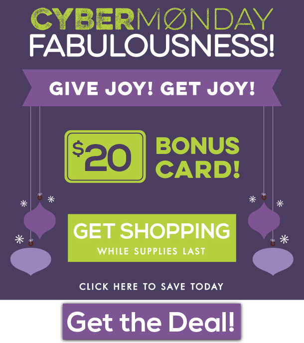 Cyber Monday $20 Bonus Card