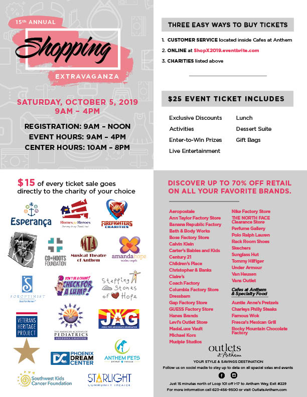 Outlets at Anthem ::: 15th Annual Shopping Extravaganza