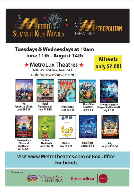 The Promenade Shops At Centerra Metro Summer Kids Movies