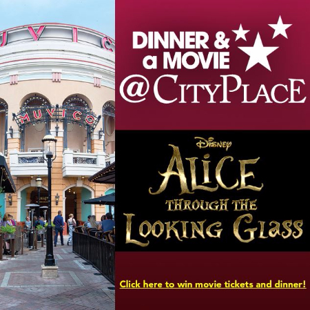 Alice Through the Looking Glass Dinner Movie CityPlace Muvico Disney