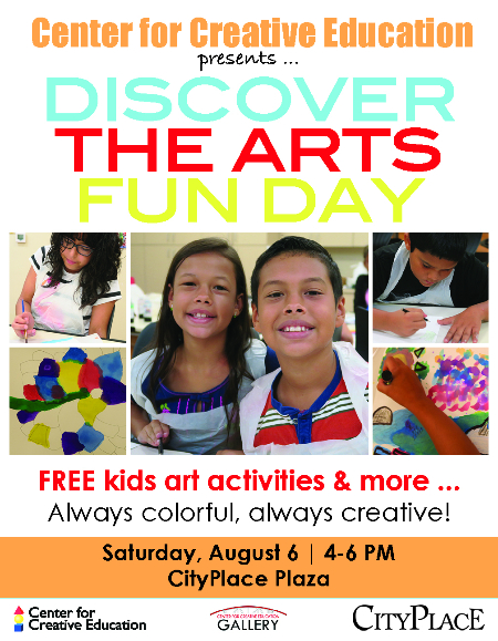 Center for Creative Education, CityPlace, Back to School, Children's Art, Kids Activity
