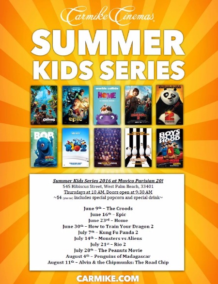 summer kid movies muvico cityplace