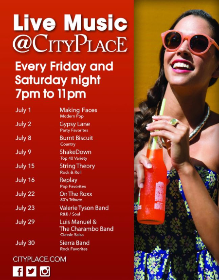 live music cityplace west palm beach friday saturday