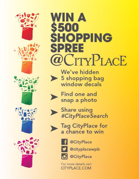 CityPlaceSearch, CityPlace Scavenger Hunt, CityPlace Shopping