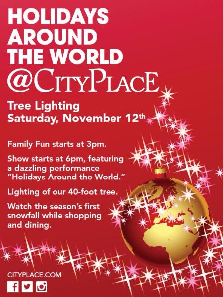 Tree Lighting, CityPlace, Holidays Around the World, Christmas