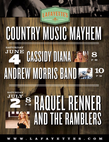 lafayette's live country music concert saturdays