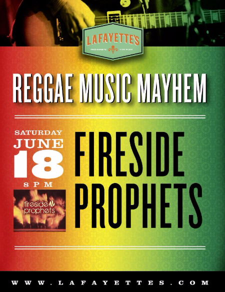 Lafayette's West Palm Beach Reggae Music Live Concert Saturday
