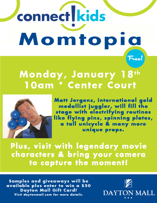 Events At Dayton Mall Momtopia Monday Is Back Jan