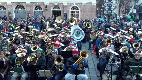 Boston Tuba Christmas Concert Free Entertainment at Faneuil Hall