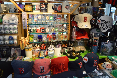 Boston Logos at Faneuil Hall Marketplace in Boston, MA- MA