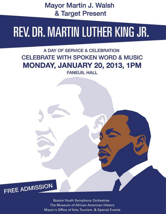 Martin Luther King Free Event at Faneuil Hall