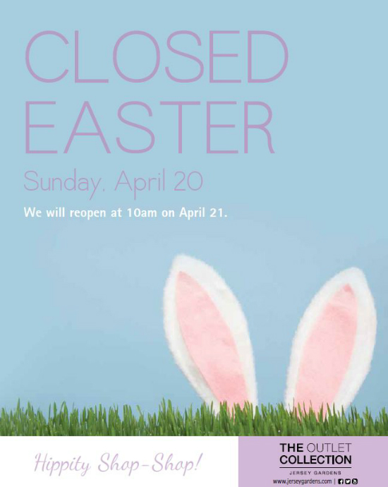 closed for easter sign template