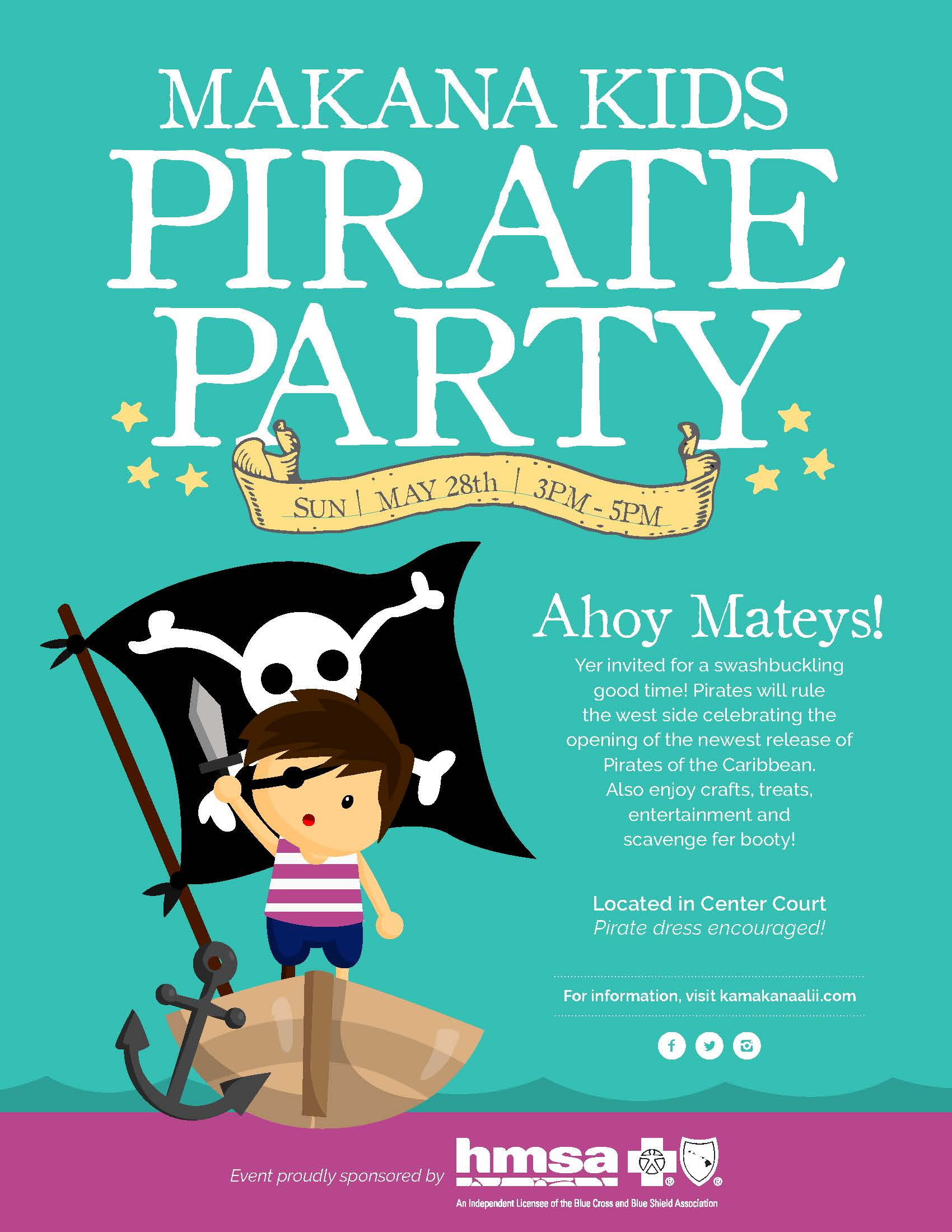 Ka Makana Alii Makana Kids Pirate Party – Kids Pirate Party Invitations