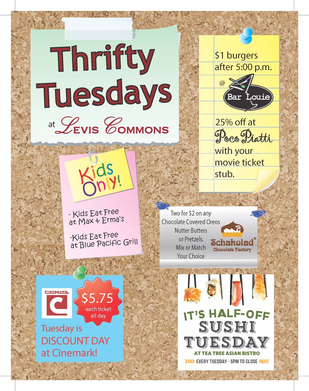Events at The Town Center at Levis Commons :: Thrifty Tuesdays ...