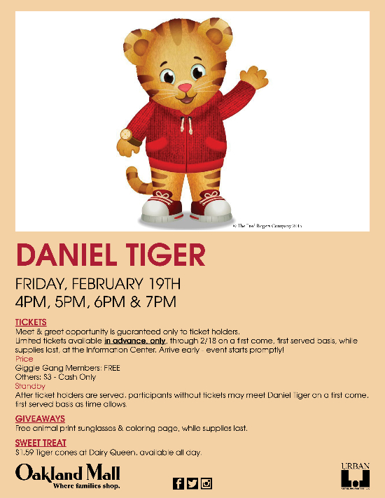 Meet Daniel Tiger Event Information