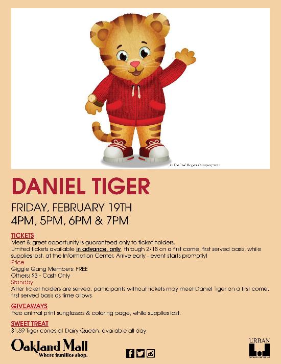 Meet Daniel Tiger Event Information