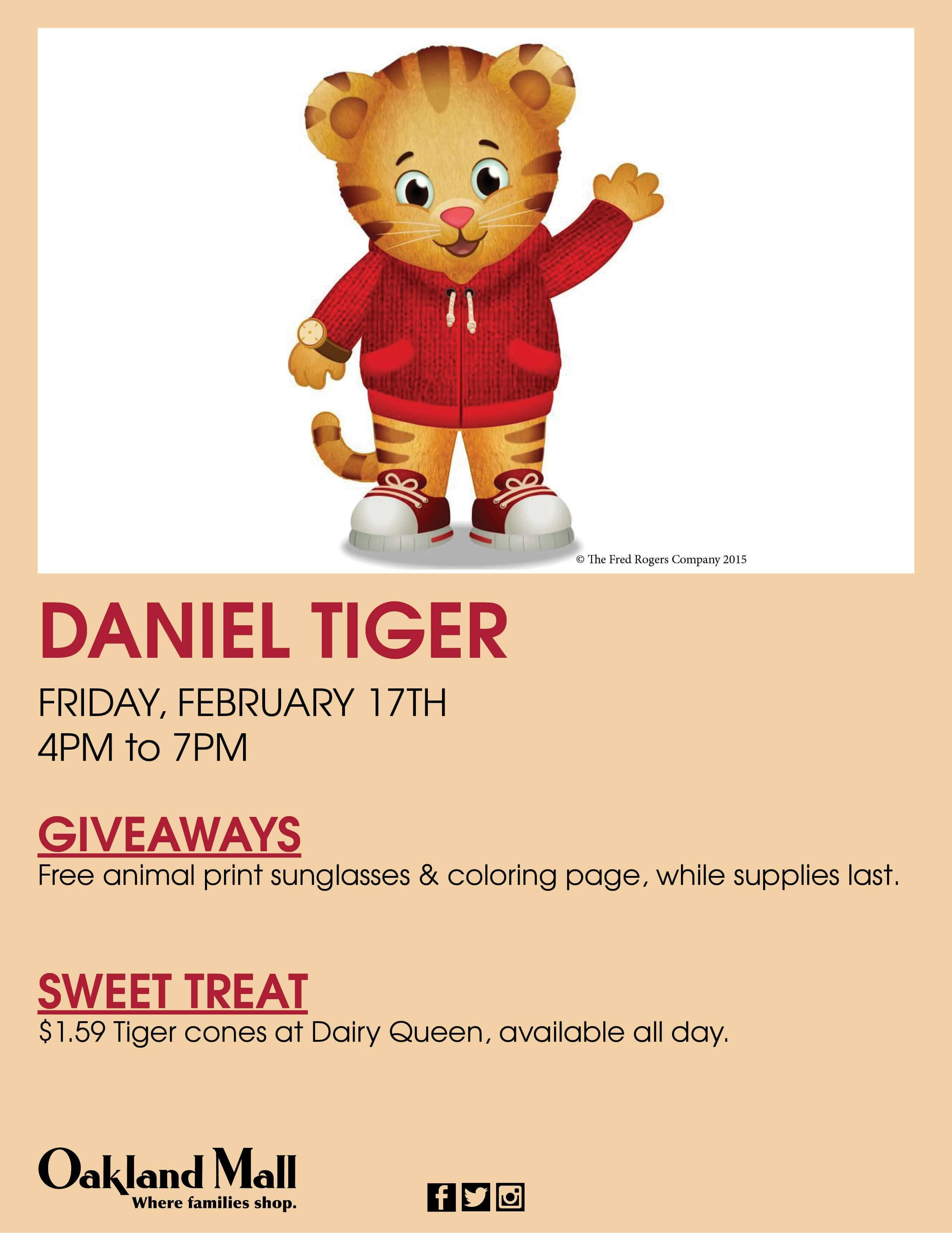 oakland mall meet daniel tiger
