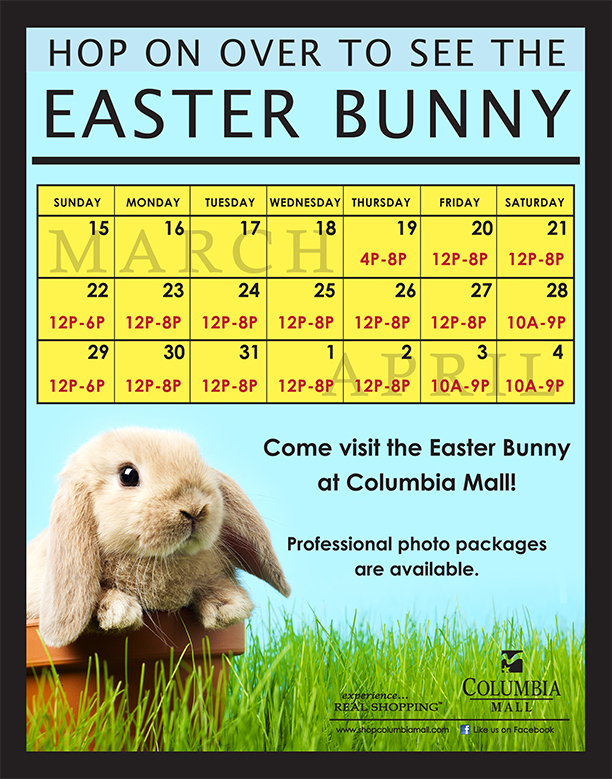 Events at Columbia Mall    Easter Bunny    Mar 19 2015 a1mU1QXq