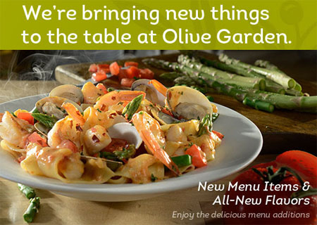 New menu items flavors at olive garden - Olive garden take out menu with prices ...