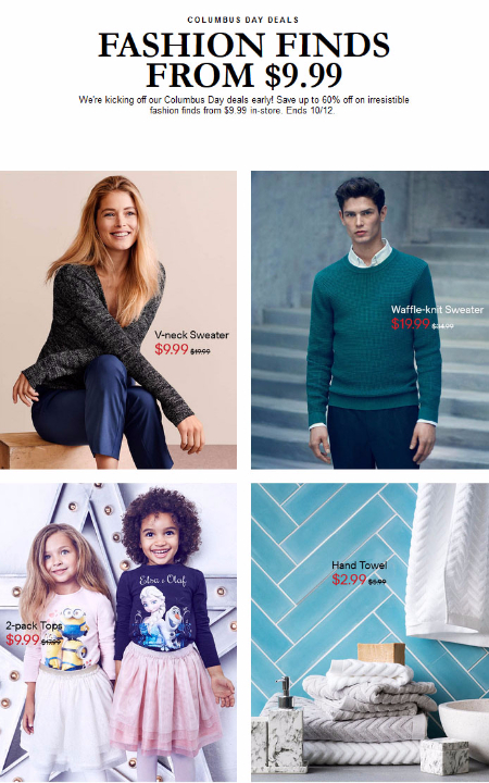 Up to 60% Off Columbus Day Sale at H&M