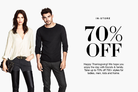 Happy Thanksgiving! Up to 70% off 700+ Styles