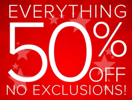Everything 50% Off