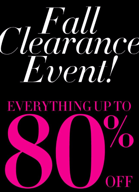 Everything up to 80% Off