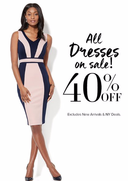 All Dresses on Sale 40% Off