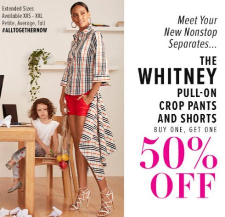 1af4d3c5e8 Moreno Valley     The Whitney Pull-On Crop Pants   Shorts BOGO 50 ...