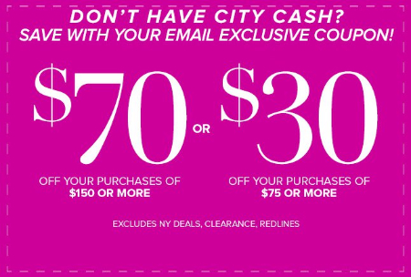 $70 Off Your Purchase of $150 or More