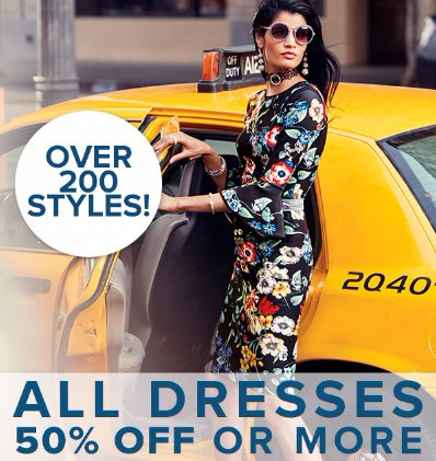 All Dresses 50% Off or More