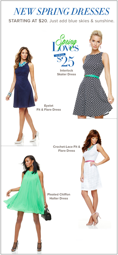 New Spring Dresses at New York & Company