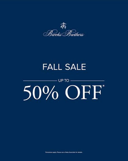 Fall Sale up to 50% off