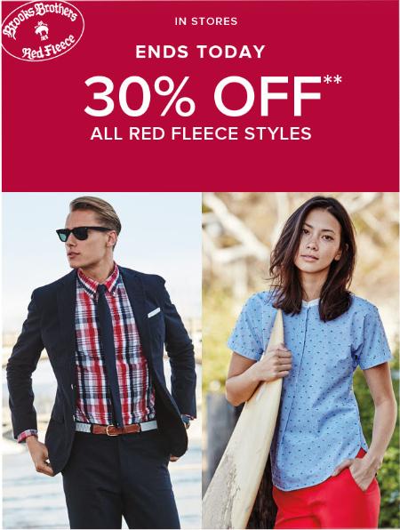 30% Off Red Fleece