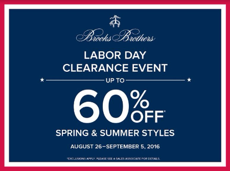 Labor Day Clearance Event