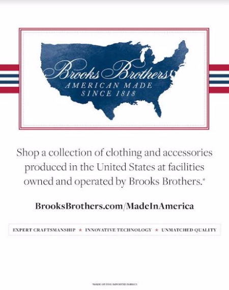 Brooks Brothers American Made Since 1818