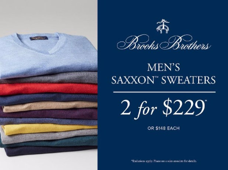 Men's SaxXon Sweaters 2 for $229 or $148 Each