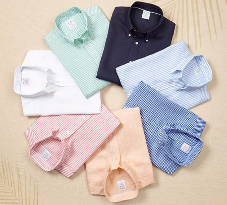 The Softest Linen Shirts Are Here at Brooks Brothers