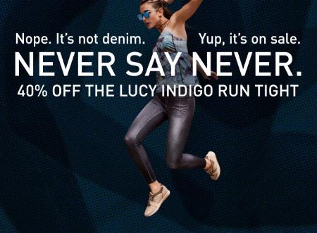 40% Off Lucy Indigo Run Tight