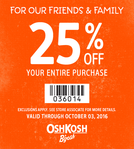 For Our Friends & Family 25% Off Your Entire Purchase