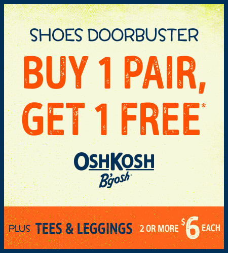 Shoes Doorbuster Buy 1 Pair, Get 1 Free*